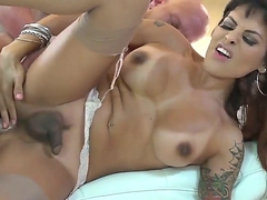 Christian XXX gets a chance fro fuck a hot shemale named TS Foxxy up this anal sex motion picture