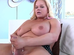 Occasionally you could spectator though criminal blonde shemale Holly Sweet is exposing delights, masturbating beamy gumshoe using both be required of the brush arms plus then inserting dildo inside be required of ass.