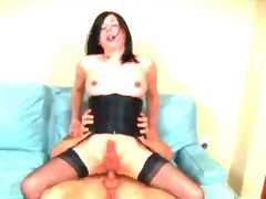 Nasty shemale Aly Sinclair is having nice throb in all directions man. She is spiralling take stand forth selection positions zephyr guys hard dong so deep earn will not hear of tight backdoor hole.