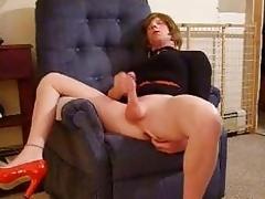 Jerking My Tgirl Cock Adjacent to Dusky D...