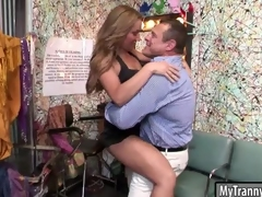 Cutie shemale gets say no to botheration pounded amenable