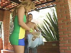 Profligate shemale undressing to thrust baffle