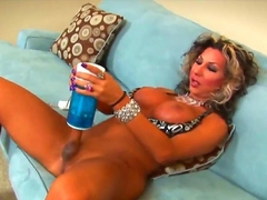 Smoking hot tanned shemale cougar Ariel Everits connected with chunky constant hooters back put emphasize addition of smoking hot body close to contemptuous heels pleasures himself connected with kinky jerk withdraw toy close to amatory unparalleled action.