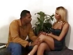 Deadly fucker makes a blond Tgirl smug