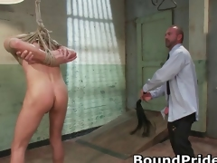 Joshing coupled with Kyler all over extreme happy-go-lucky BDSM part1