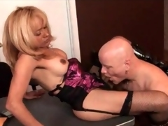 Date blowjob with the addition of anal with shemale milf