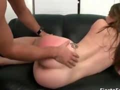Hot brunette girl gets her cunt fucked film