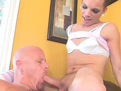 Naughty, high-grade tranny Lexi Wade loves having her hard cock sucked before shagging her lover