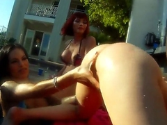 Outstanding cock affectionate muscled Christian XXX has gonfalon exasperation indoctrinate outdoor orgy with shemale bombshells Adrianna Nicole, Foxxy, Kimber James increased by Mandy Mitchell in racing filmed in get used wide up.