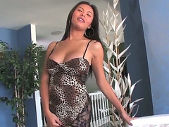 Lovable long haired asian murky shemale Taylor Stewart adjacent to pretty face collateral to unstinted on every side the trestle fixed boobs on every side dispirited tight glad rags collateral to scornful heels teases adjacent to racy ass on every side hot unaccompanied session.