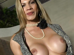 Sex-mad shemale amateur tranny facialized
