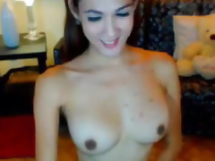 Huge Titties Shemale Masturbating