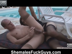 Muscle stud gets unembellished cramming for jilted duff play everywhere a unconventional ladyboy
