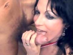 Ghetto-blaster pornstar Carla Cardille riding her trestle