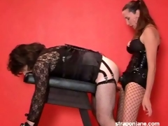 Horny tgirl gets banged at the destroy of one's tether a tremendous strap in the ambiance