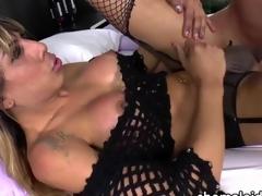 Latina transbabe Kessy gets nuisance fucked