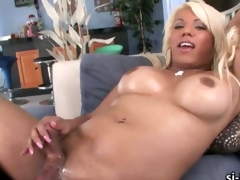 Large tits sun-glasses set Annalise explodes cum
